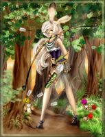 Hunting the bunny.... FF12 by Maihunaa