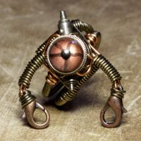 Stempunk Robot Ring by CatherinetteRings