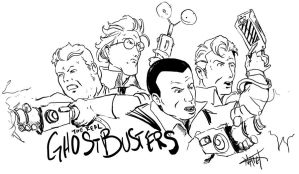 Ghostbusters Sketch by NathanKroll