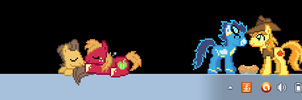 These little guys played on my Desktop all day. by DoctorDash