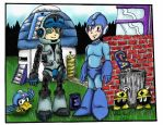 MegaMan and Mighty Number 9 - Colored Version by Morris1113