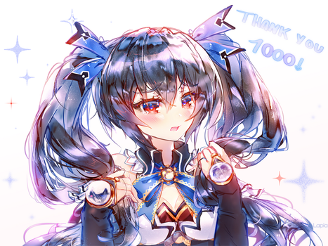 Noire  (1k @twitter thank you!) by Lapia