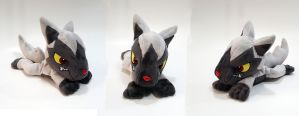Pokemon - Poochyena laying down custom plush -sale by Kitamon