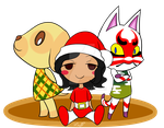 Animal Crossing Christmas 2016 by Seliex