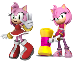 Who's your favorite Amy Rose Mordern or Boom by BlackOtakuZ