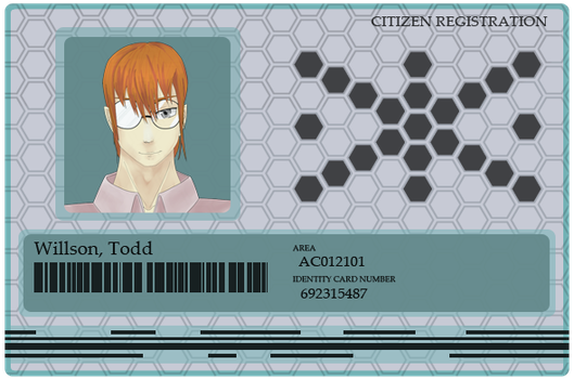 CA: ID Card Todd by chaoticpeace1