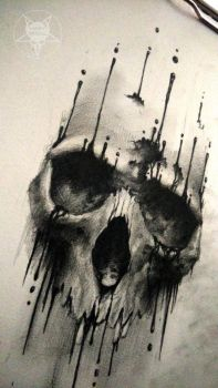 ink skull 2 by AndreySkull