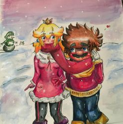 Winter Warmth (traditional watercolour) by Draqualoon