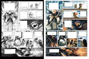 Aurore storyboard to color comparison by EnriqueFernandez