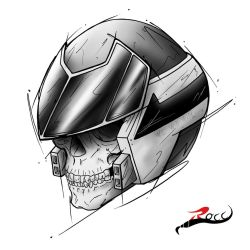 Robotech - VF Helmet (we will win) by Rocc by ARSXART