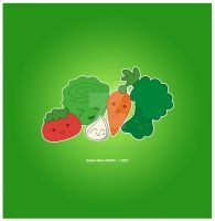 Kawaii Veggie Group by KawaiiUniverseStudio
