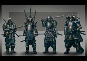 Samurai characters by ortsmor