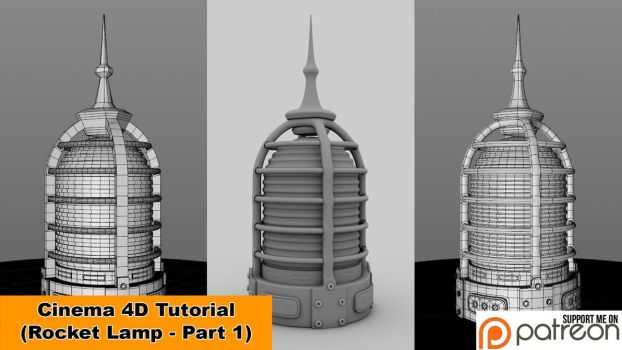Rocket Lamp - Part 1 of 2 (Cinema 4D Tutorial) by NIKOMEDIA