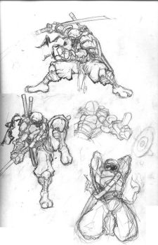 NINJA TURTLE REDESIGN sketch 2 by cereal199