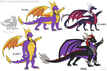 Spyro_My Adult designs by NamyGaga
