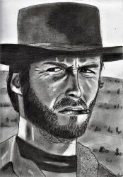 Clint Eastwood _ The Good, the Bad, and the Ugly by ArthurWtb