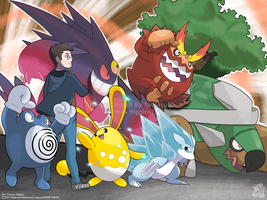 Commission - Jack's Pokemon Team
