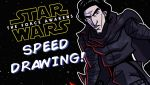 TFA Speed Drawing - 7 of 9 - Kylo Ren by JoeHoganArt