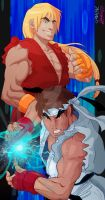 Street Fighter Alpha Collab by Goldman-Karee
