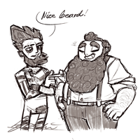 Bearded dads by Nara-chann