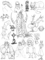 Character Sketches V by MurderousAutomaton