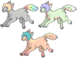 Pastel Wolf Adopts!! OPEN by RainUndead