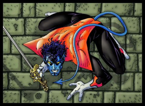 Nightcrawler Jim Lee X-Men Card Series 1 Re-Color by andydiehl