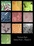 Texture Pack- Retro Floral III by rockgem