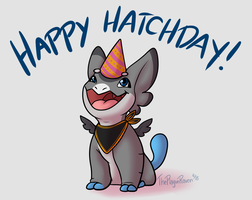 Happy Hatchday, Zephyr! by ThePlagueRaven