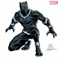 Black Panther licensing art by JoeyVazquez