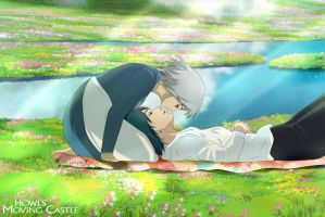 Howl's Moving Castle - Howl and Sophie by Lesya7