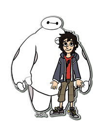 Baymax and co sticker. by Creationmist