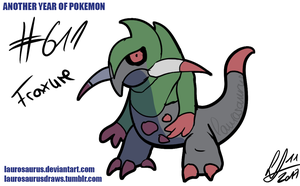 Another year of pokemon: #611 Fraxure