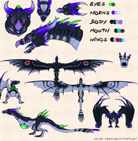 Exotic GrimWing Skin Sheet by Silver-WillowWing