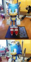 PAPERCRAFT SONIC by cheetor182