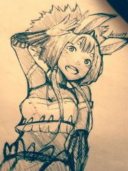 Sketch Oc Inspired Inspired By Final Fantasy12 by Akisas99
