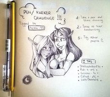 Pen\Marker Challenge! by VioletKy