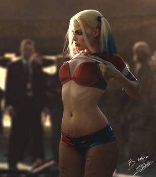 Harley Quinn Suicide Squad by AxzlRose