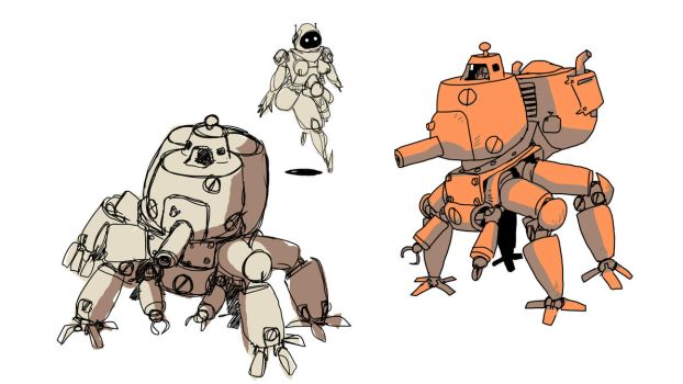 robot sketches by bjarnetv