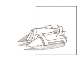 WIP Vehicle Sketch Retro-Hover by cml913