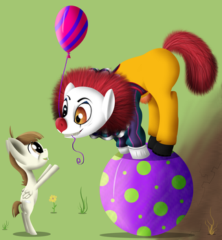 Mr. Pennywise Pony by Super-Zombie