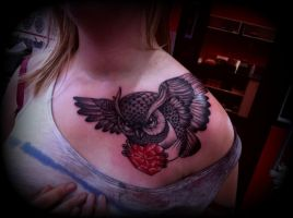 Owl Tattoo by CalebSlabzzzGraham
