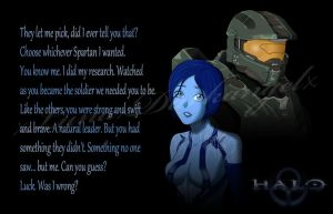 Cortana and Chief by xLunaxDarkangelx