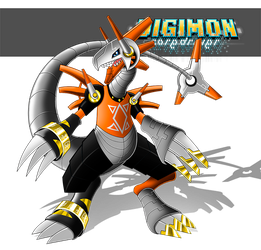 Riderdramon (Chou Shinka) by LuRocha