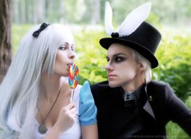 Alice and March Hare (cosplay) by LienSkullova