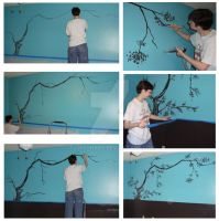 Cherry Tree Mural by FluffyNabs