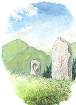 Stone Pair, Clogherane, kerry by subedei