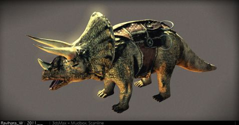 Carrier Triceratops Left by Ravihara-Weerathunge