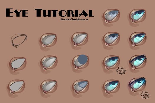Eye Tutorial by BelieveTheHorror