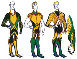 Aquaman redesign options by mannycartoon